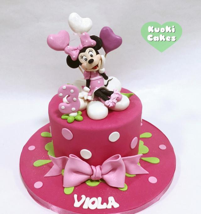 Strange Minnie Birthday Cake By Donatella Bussacchetti Cakesdecor Personalised Birthday Cards Paralily Jamesorg