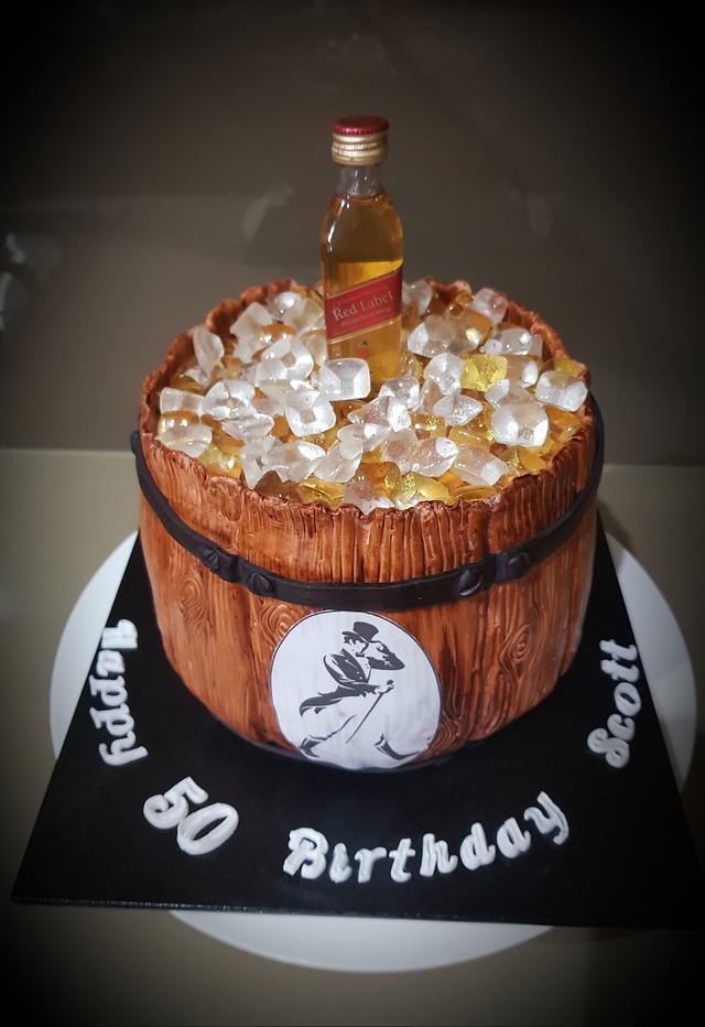 Liquor Barrel Cake