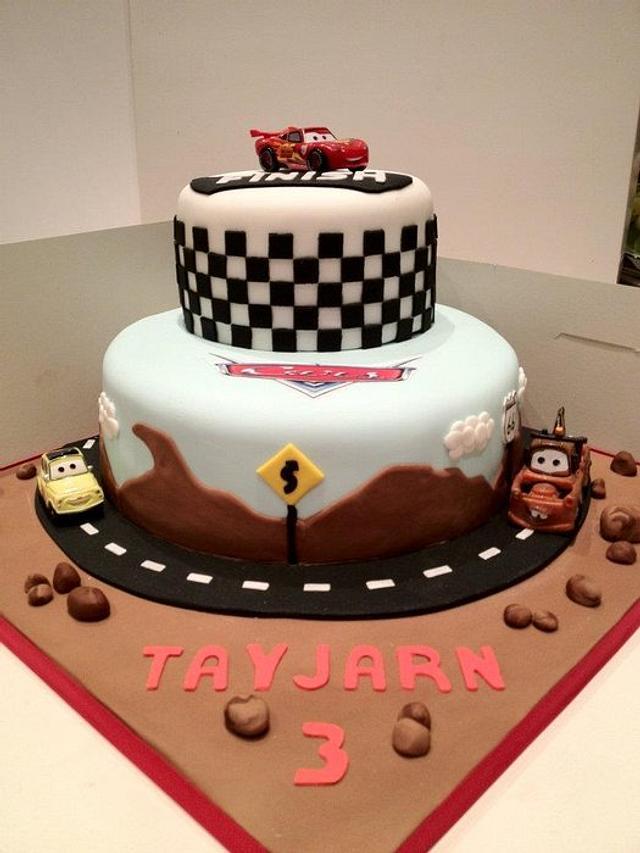 Pleasing Disney Cars Birthday Cake Cake By Kamlesht Cakesdecor Personalised Birthday Cards Veneteletsinfo