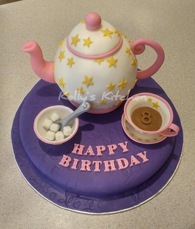 Pleasing Tea Party Birthday Cake Cake By Kelly Stevens Cakesdecor Funny Birthday Cards Online Necthendildamsfinfo