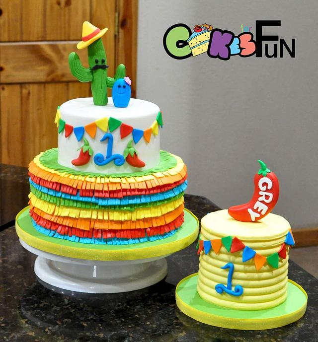 Awesome Fiesta Cake Cake By Cakes For Fun Cakesdecor Personalised Birthday Cards Beptaeletsinfo