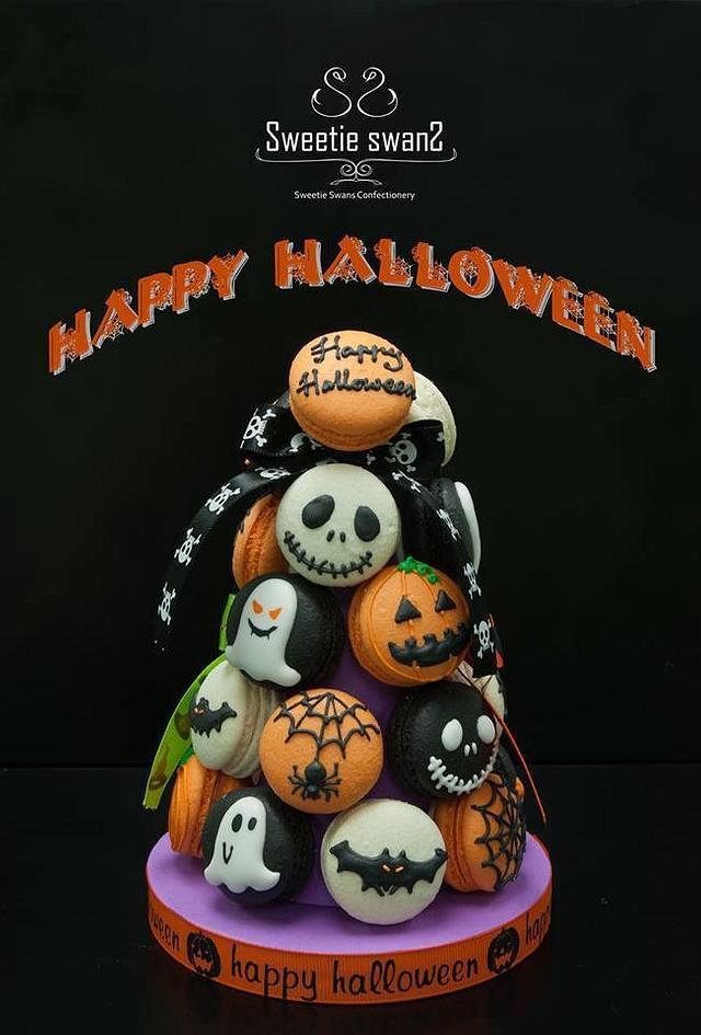 Halloween Macaron Tower