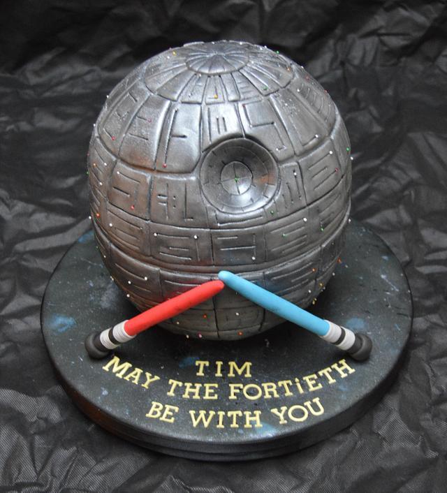 Star Wars Death Star Cake..x.