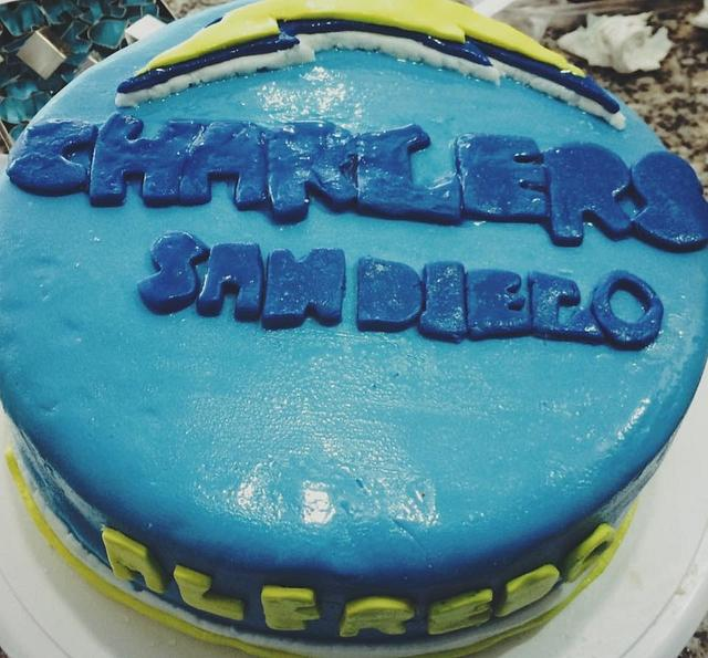 Fantastic San Diego Chargers Cake Cake By Boccato Bakery Cakesdecor Funny Birthday Cards Online Necthendildamsfinfo