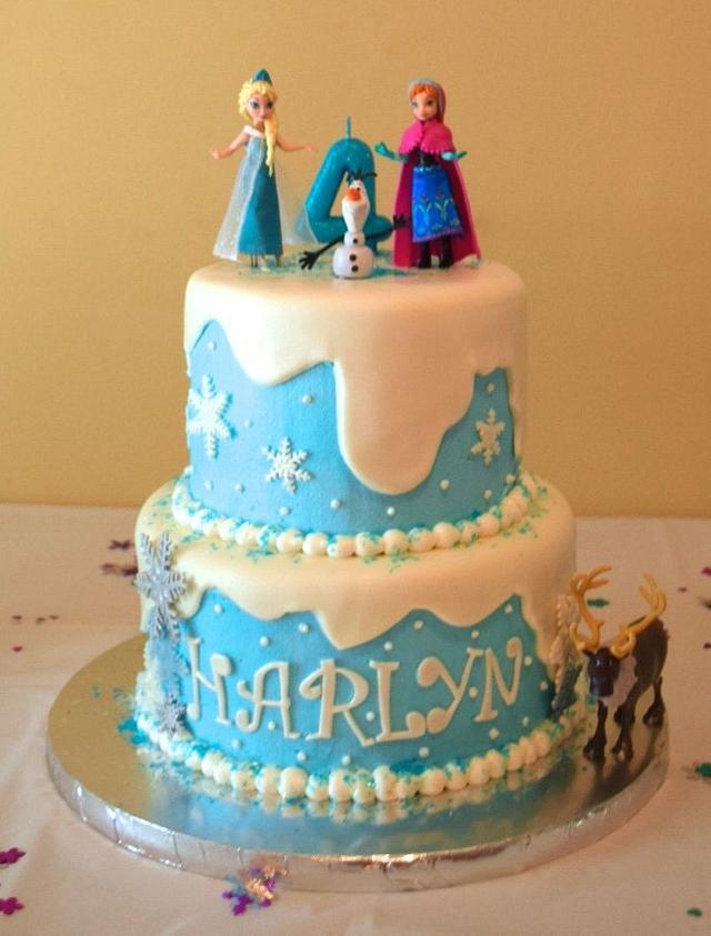 Awe Inspiring Disney Frozen Birthday Cake Cake By Georgiefl Cakesdecor Funny Birthday Cards Online Elaedamsfinfo