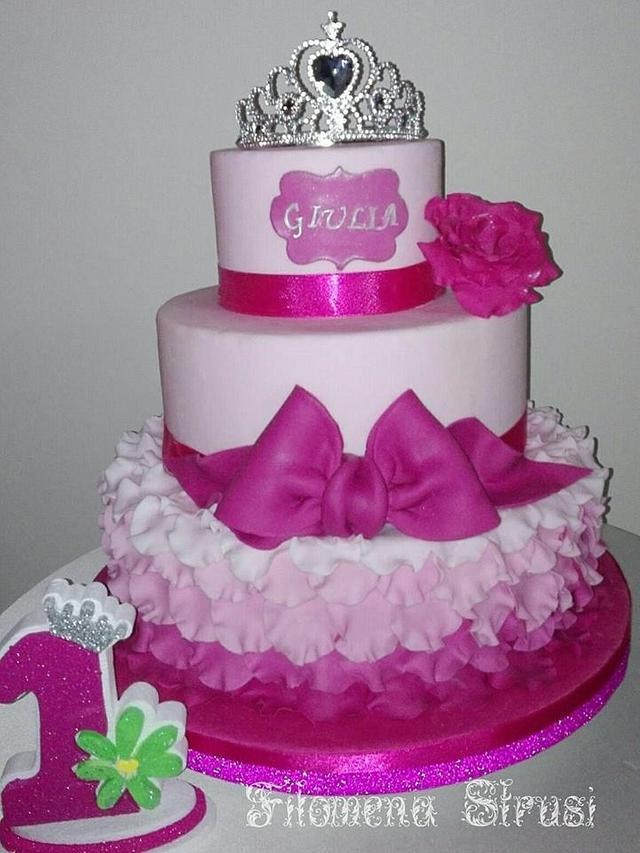 Petal princess cake