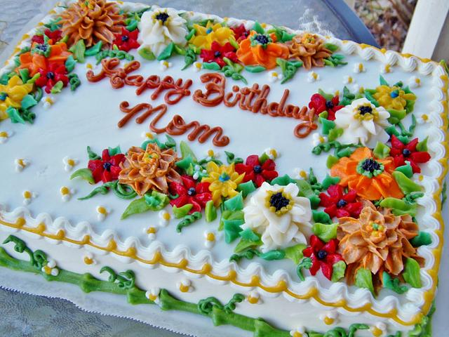 Fall buttercream floral sheet cake (100% BC)