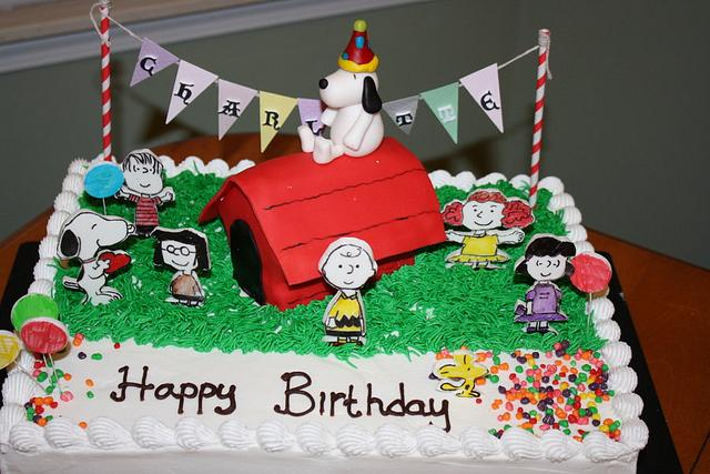 Tremendous Snoopy Birthday Cake Cake By Rostaty Cakesdecor Funny Birthday Cards Online Alyptdamsfinfo