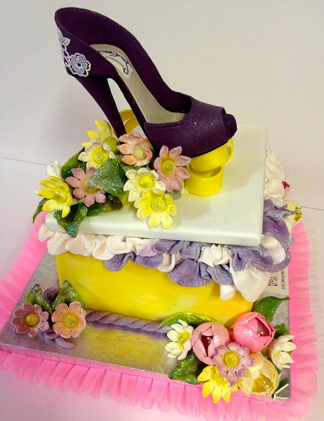 A STEP OUTSIDE of the BOX..... Gift Box Cakes Sugar Shoes