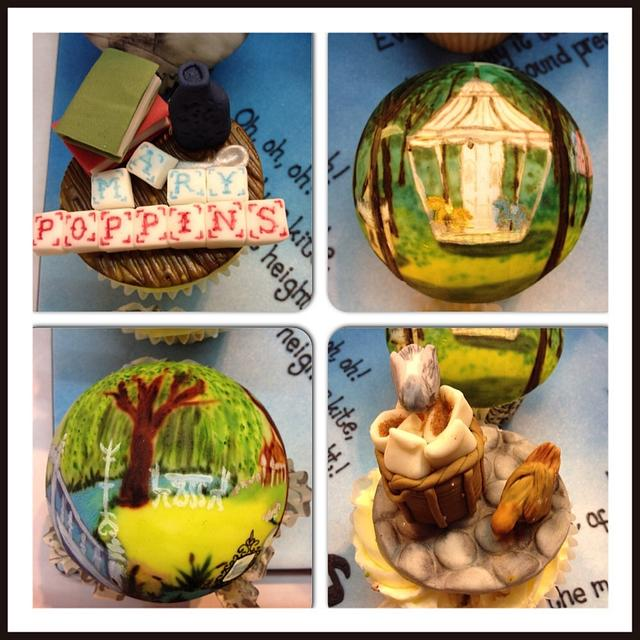 Mary Poppins Cupcakes - Cake International entry