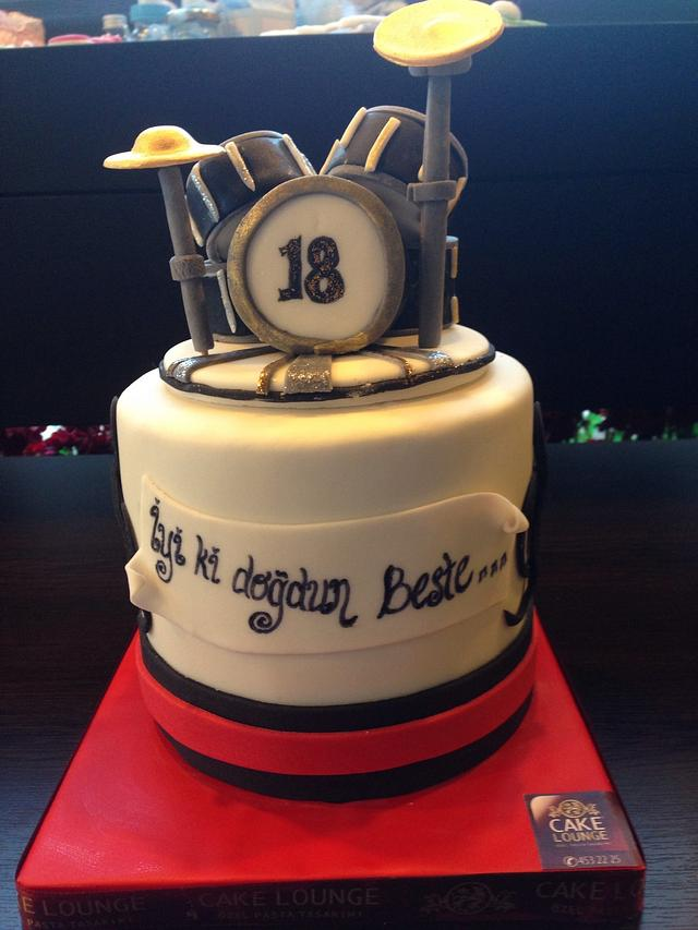 Excellent Drum Set Birthday Cake Cake By Cake Lounge Cakesdecor Funny Birthday Cards Online Bapapcheapnameinfo