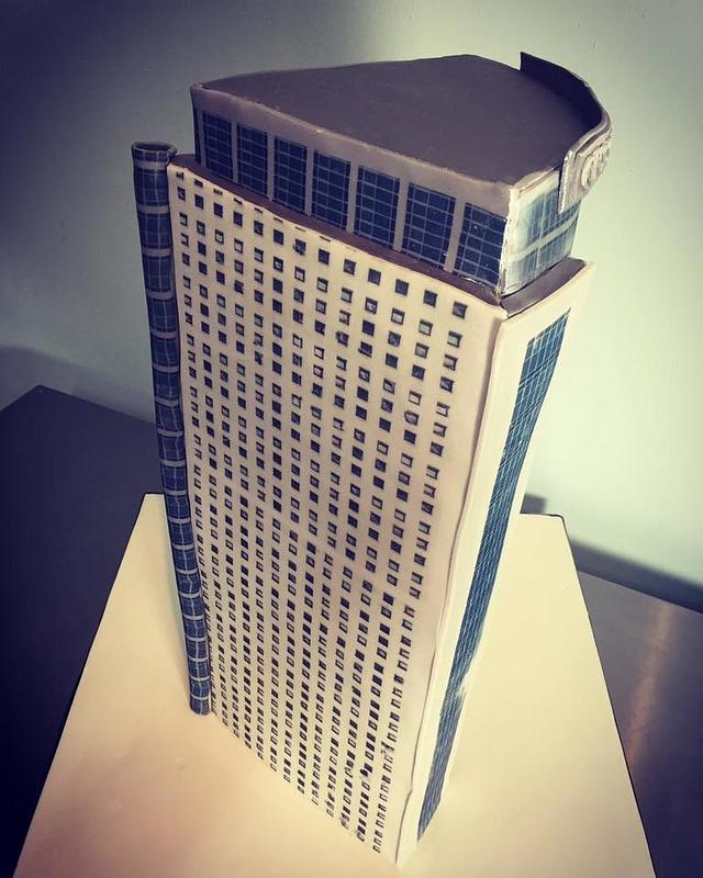 Crystal Tower Office Building Cake