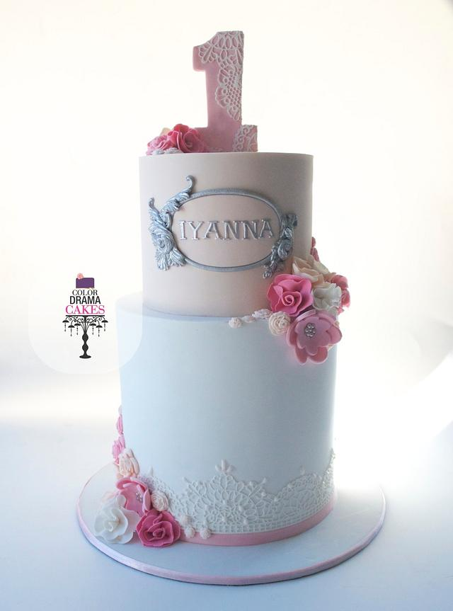 Fantastic 1St Birthday Cake Cake By Color Drama Cakes Cakesdecor Personalised Birthday Cards Cominlily Jamesorg