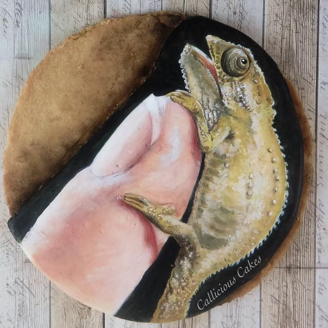World Animal Day: Cape Dwarf Chameleon Cookie