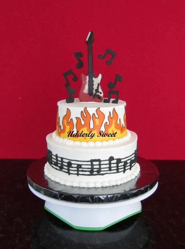 Stupendous Musical Birthday Cake Cake By Michelle Cakesdecor Funny Birthday Cards Online Fluifree Goldxyz