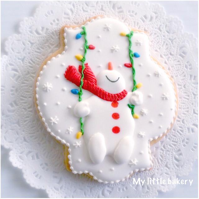 Happy Snowman cookie