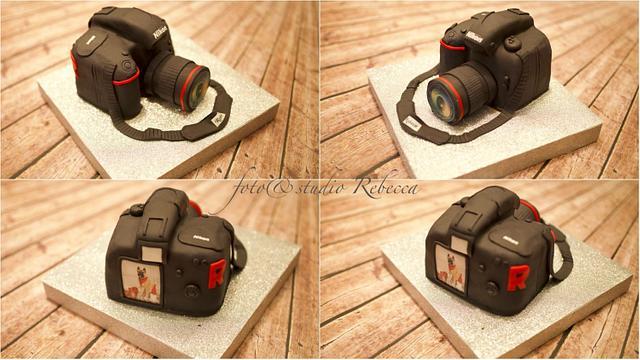Tarta cámara Nikon