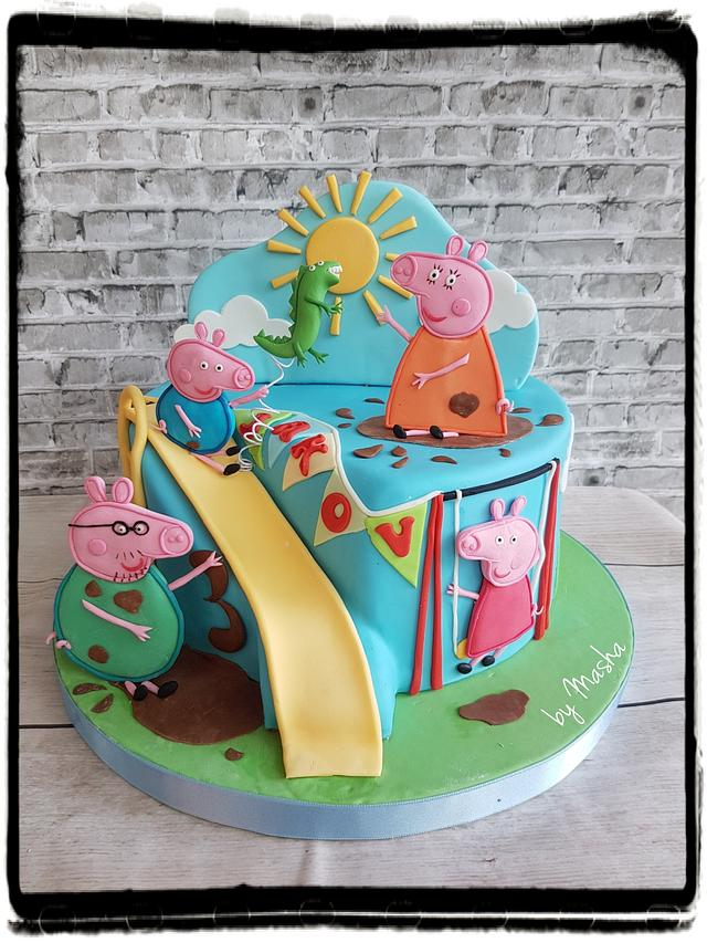 Excellent Peppa Pig Family Fun Day Cake Cake By Sweet Cakes By Cakesdecor Funny Birthday Cards Online Bapapcheapnameinfo
