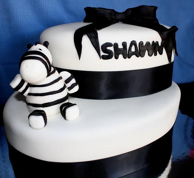 Zebra babyshower cake!