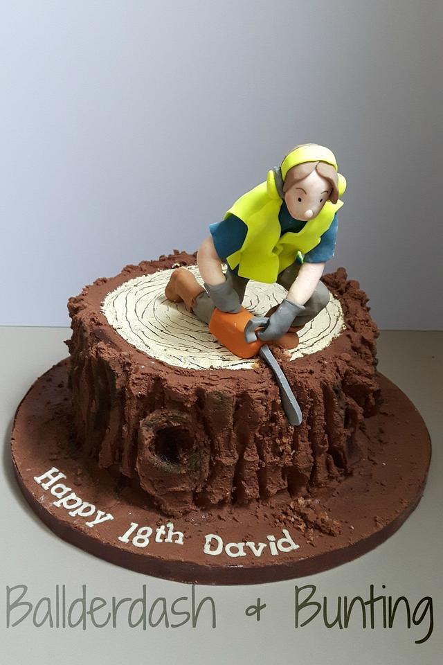 Tree surgeon cake