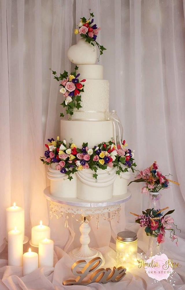 Floral wedding garland