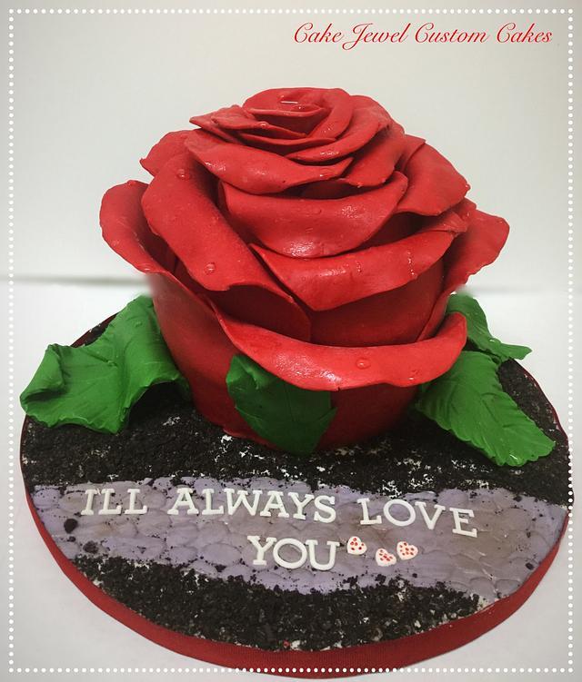 Modeling Chocolate Rose Cake