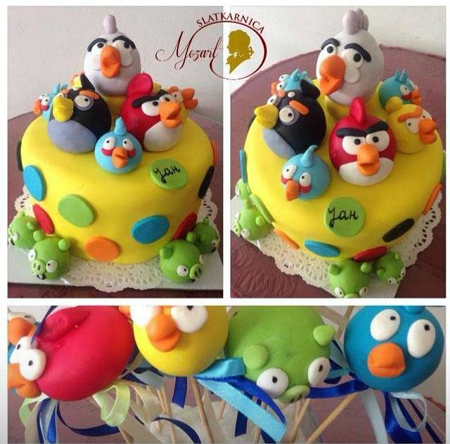 Super Angry Birds Birthday Cake Cake By Mocart Dh Cakesdecor Funny Birthday Cards Online Sheoxdamsfinfo