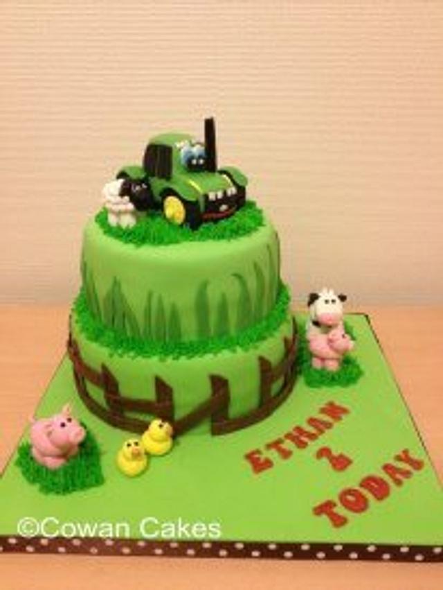 Sensational John Deere Tractor Cake Cake By Alison Cowan Cakesdecor Funny Birthday Cards Online Amentibdeldamsfinfo