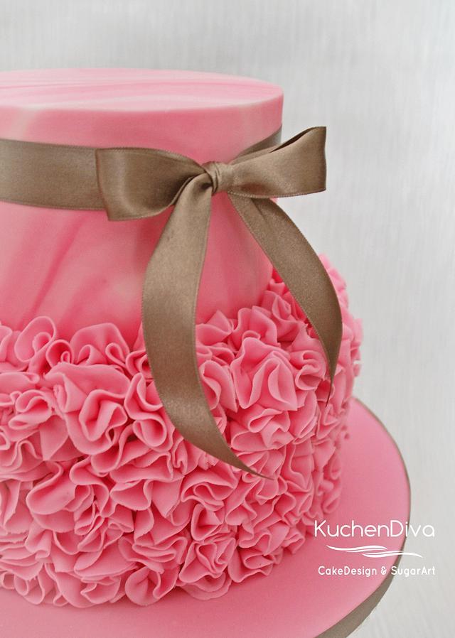 Smurf Baby Shower Cake