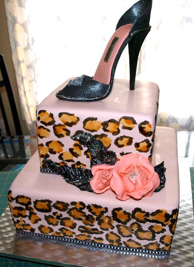 Leopard Shoe Cake