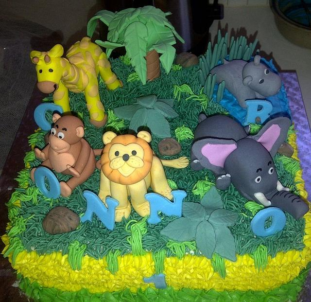 Birthday Cake - Jungle theme