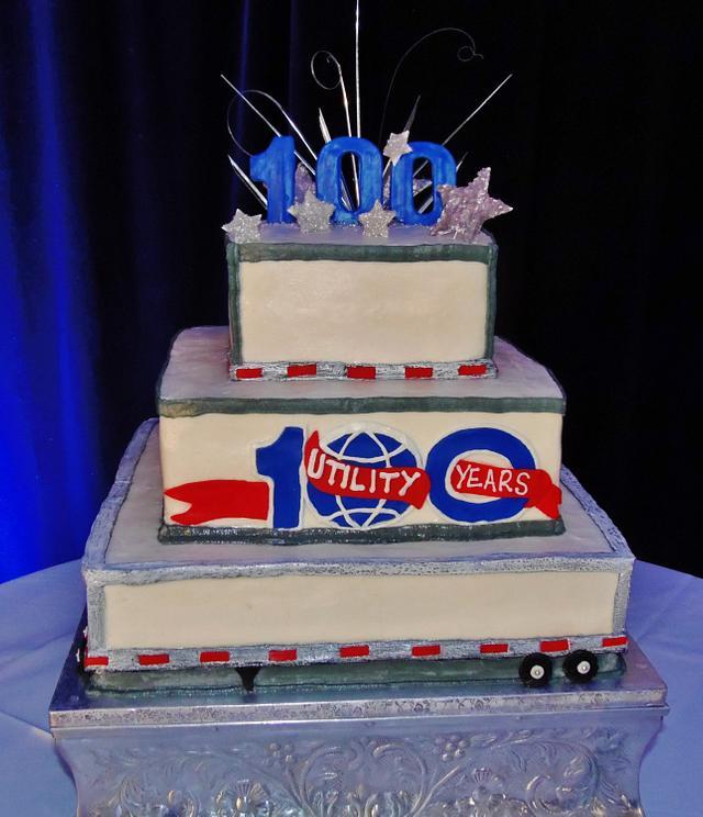 100 year Company anniversary Tiered cake