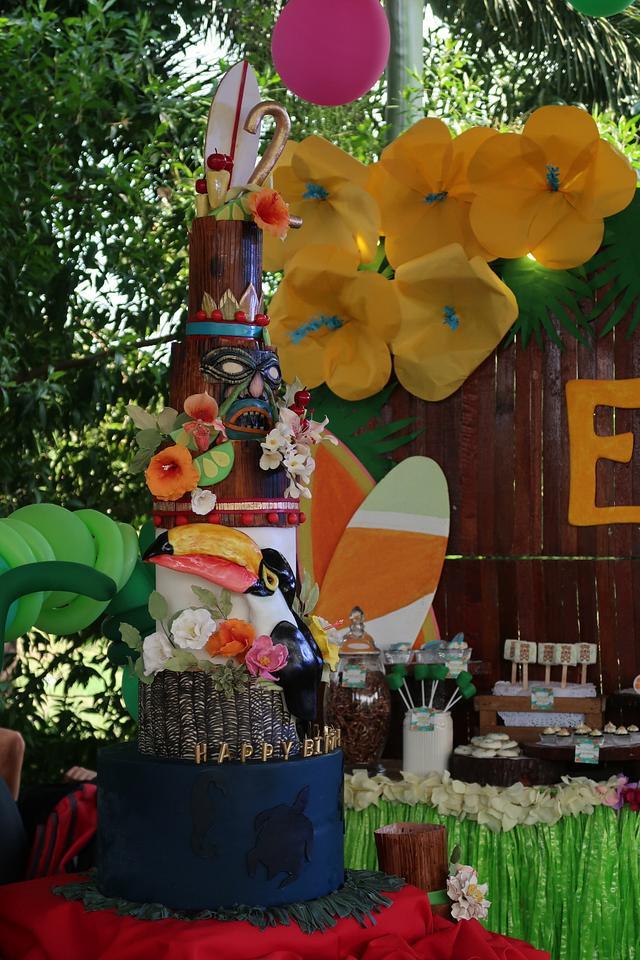 Tropical/Luau Cake