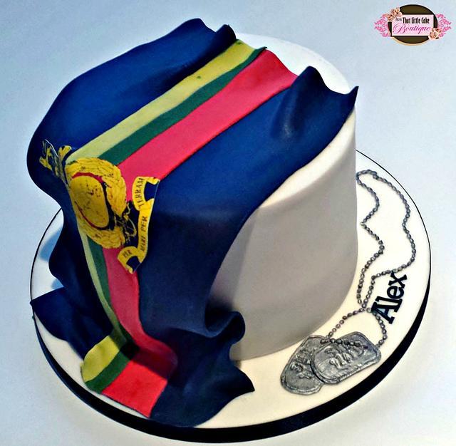 Marines Flag Cake