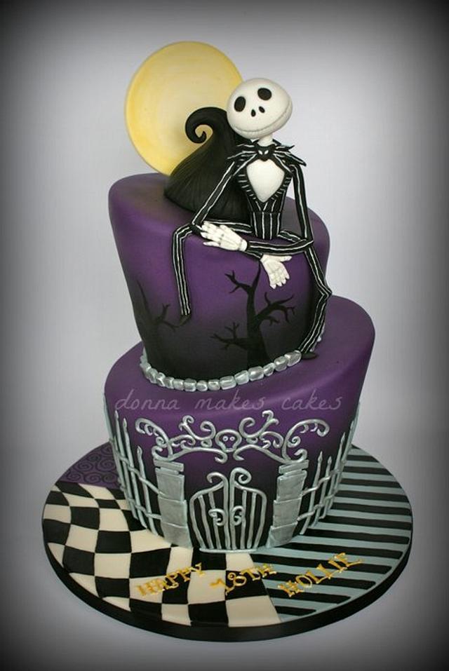 Phenomenal Nightmare Before Christmas Topsy Turvy Cake Cake By Cakesdecor Personalised Birthday Cards Paralily Jamesorg