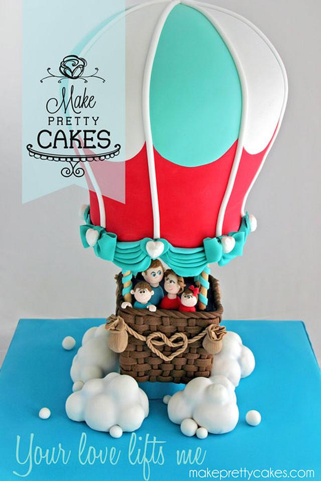 Super Your Love Lifts Me 3D Hot Air Balloon Cake Cake By Cakesdecor Funny Birthday Cards Online Necthendildamsfinfo