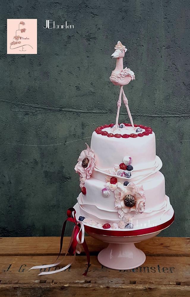 Posh flamingo cake