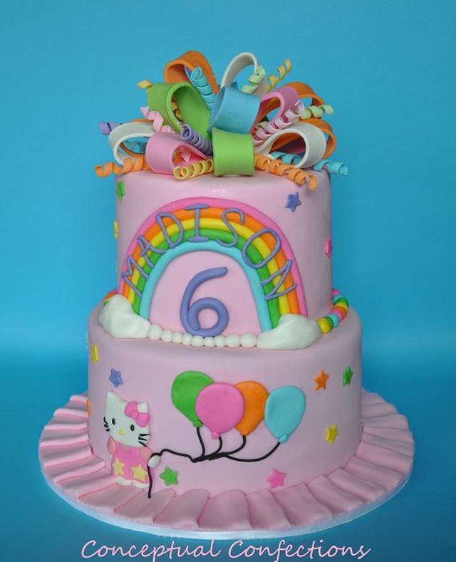 Hello Kitty Rainbow Cake