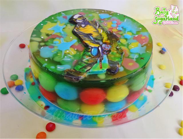 Sensational Paintball Gelatine Cake By Betysugarland By Elisabete Cakesdecor Birthday Cards Printable Giouspongecafe Filternl