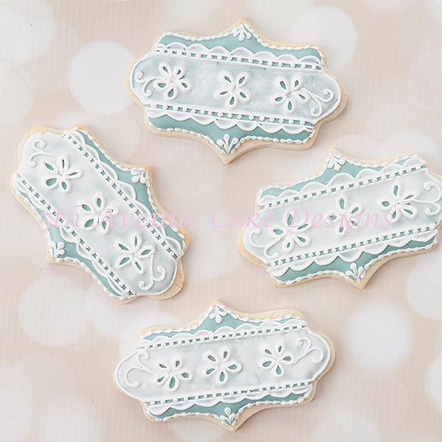 Royal Icing Eyelet Lace Wedding Cookies