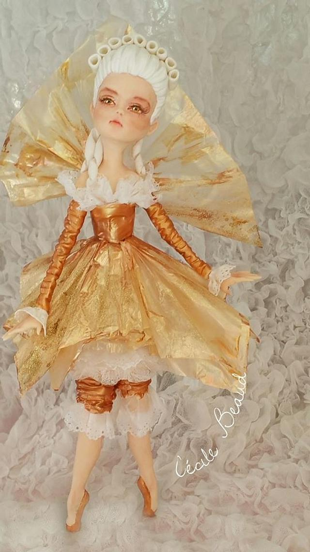 Dress with new edible material and flexible