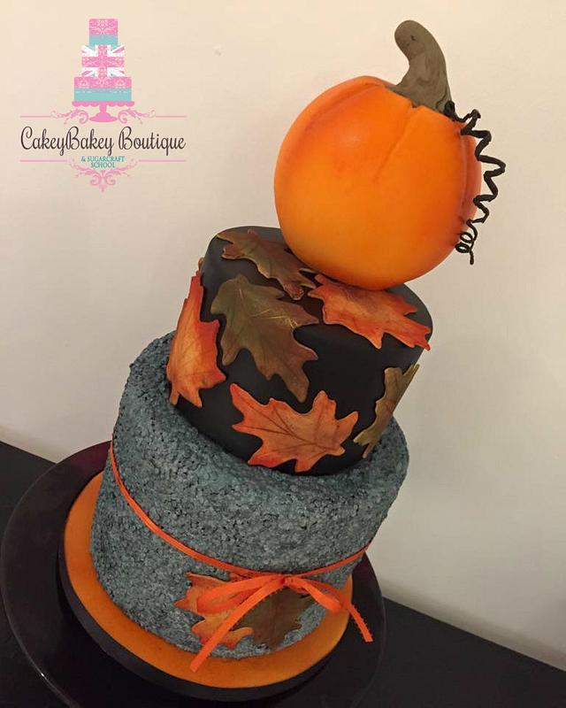 Pumpkin and Autumn Leaves