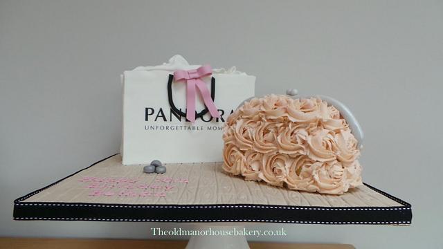 Pandora Bag and Clutch Bag 16th Birthday cake