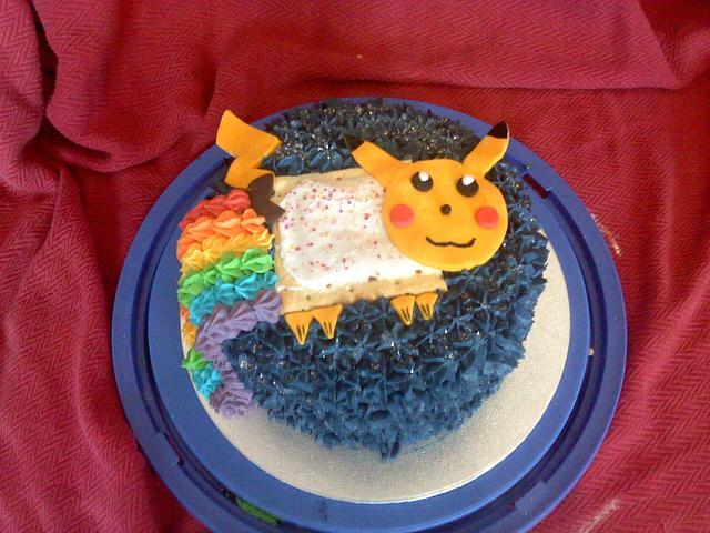Nyan Pikachu cake