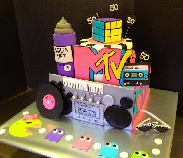 Fabulous 80S Birthday Cake Cake By Sweet Life Of Cakes Cakesdecor Funny Birthday Cards Online Elaedamsfinfo