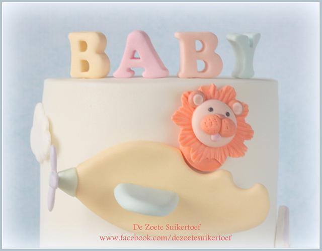 Sweet baby shower double barrel cake