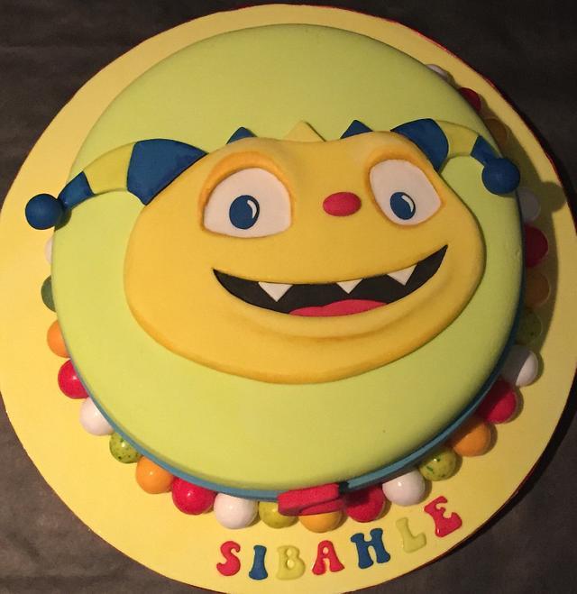Henry the hugglemonster birthday cake