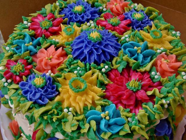 Vibrant Buttercream flower cake