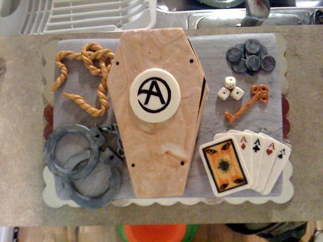 Criss Angel Mind Freak Birthday Cake
