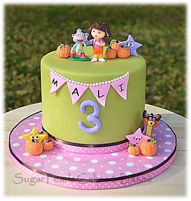 Brilliant Dora The Explorer Birthday Cake Cake By Sugarpearls Cakesdecor Funny Birthday Cards Online Alyptdamsfinfo